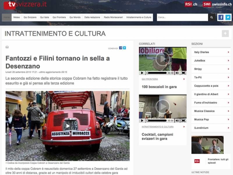 TVSVIZZERA.IT - Fantozzi e Filini tornano in sella a Desenzano
